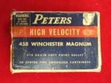 458 Winchester Magnum ammo