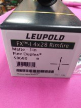 Leupold FX-1 4X28 Rimfire