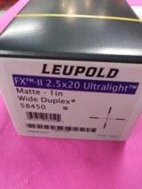 Leupold FX-II 2.5 x 20 Ultralight