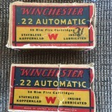 Winchester 22 automatic , Two boxes , Rare for your Winchester 1903, Automatic Only !