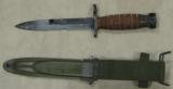 WWII U.S. M4 Camillus Bayonet & US M8A1 PWH Scabbard - 4 of 4