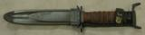 WWII U.S. M4 Camillus Bayonet & US M8A1 PWH Scabbard - 1 of 4