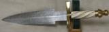 Custom Dagger Ivory Twist Handle & Damascus 8