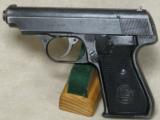 J.P. Sauer & Sohn Model 38h Pistol 7.65 mm (.32ACP) Caliber S/N 489742