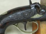 Henry Deringer Percussion Medium Sized Pocket Pistol Circa 1848-1850 - 11 of 12