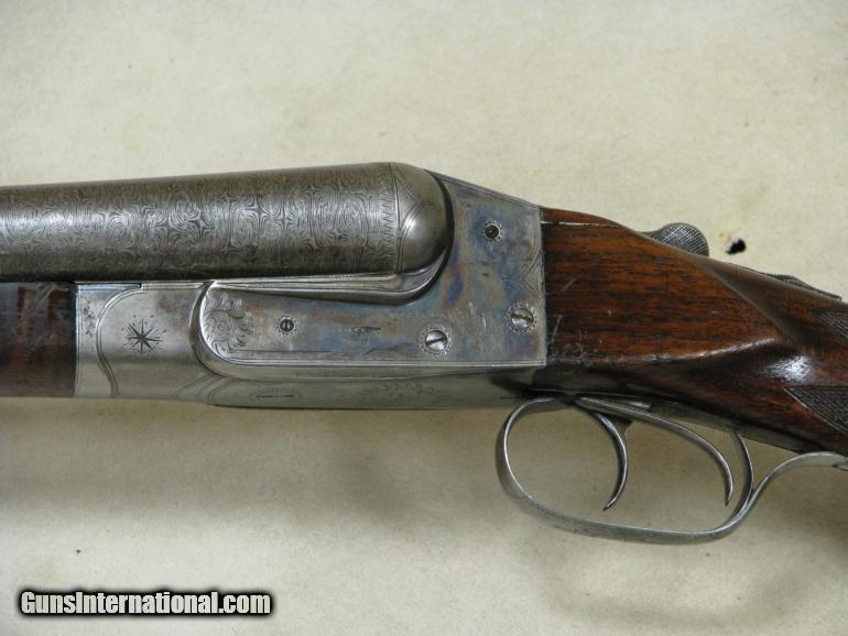 Ithaca Lewis Model SxS Damascus 12GA Shotgun S/N 82980 for sale