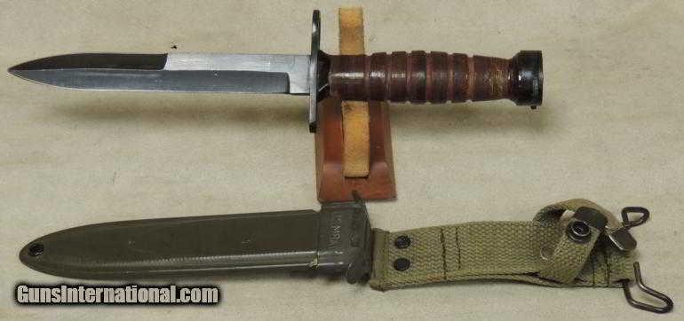 u s m4 fighting knife bayonet u s m8a1 scabbard kiffe japan