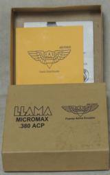 Llama 1911 Style Micromax .380 ACP Caliber Pistol Ecuador Air Force S/N 07-04-12407-97 - 6 of 6