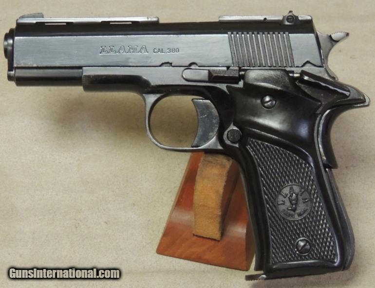 llama 1911 style 380 acp caliber pistol s n a19971 rh gunsinternational com 1911 Llama 45 Cal Magazine Llama 45 Cal Pistol