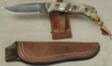Nighthawk Custom / Keith Murr Model 300 Knife * Damascus & Dahl Sheep Horn - 6 of 6