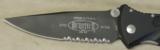 "Microtech 160-2 Socom Elite Manual 4.05"" Black Combo Blade Knife NIB - 2 of 5"
