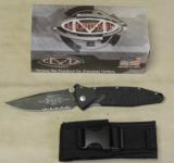 "Microtech 160-2 Socom Elite Manual 4.05"" Black Combo Blade Knife NIB - 5 of 5"