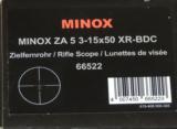 Minox ZA 5 3-15x50 Riflescope w/Side Focus Parallax Adjustment NEW - 3 of 3