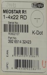 Meopta Meostar 1-4x22 RD Kdot Riflescope NEW - 5 of 5
