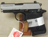Sig Sauer P938 Two-Tone 9mm Pistol w/ Laser NIB S/N 52B121842 - 2 of 5