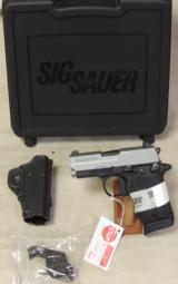 Sig Sauer P938 Two-Tone 9mm Pistol w/ Laser NIB S/N 52B121842 - 5 of 5