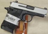 Sig Sauer P938 Two-Tone 9mm Pistol w/ Laser NIB S/N 52B121842 - 1 of 5