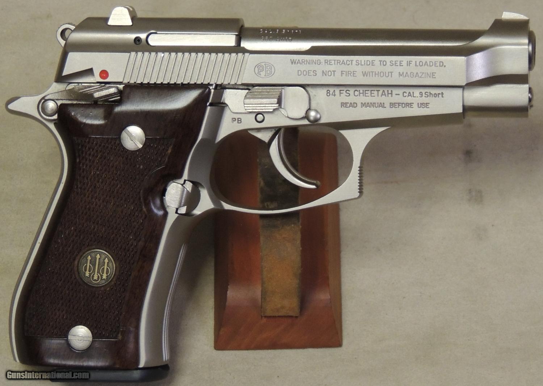 Beretta 84FS Cheetah Nickel  380 ACP Caliber Pistol S/N H31314Y