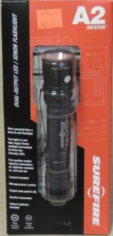 SureFire A2 Aviator Dual-Output 50 Lumen LED / Xenon Flashlight NEW