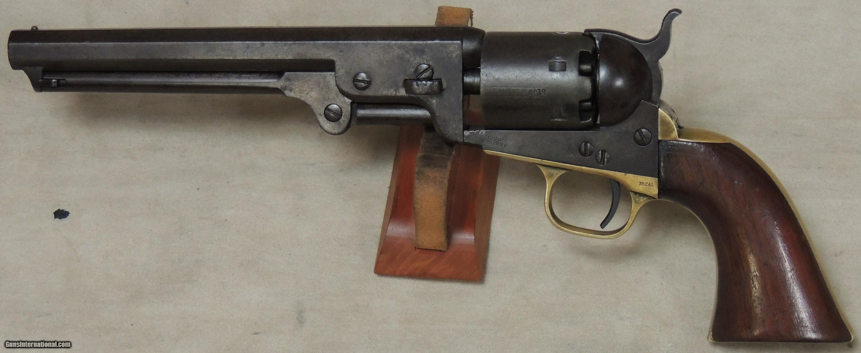 cased colt 1851 navy 4th model 36 caliber percussion revolver s n