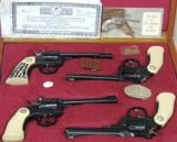 Iver Johnson Commemorative 100th Year DA/SA 4 Revolver Cased Set * All 4 Unfired