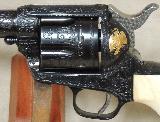 Colt Engraved Single Action Army SAA .45 Colt Caliber Revolver S/N 3970SA - 5 of 11