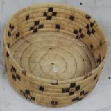 Antique Tohono O'odham Papago Indian Large Hanging Basket & Lid w/ Coyote Tracks - 3 of 6