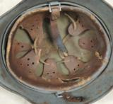 German WW2 Tri-Color Normandy Nazi M1935 Helmet - 5 of 6