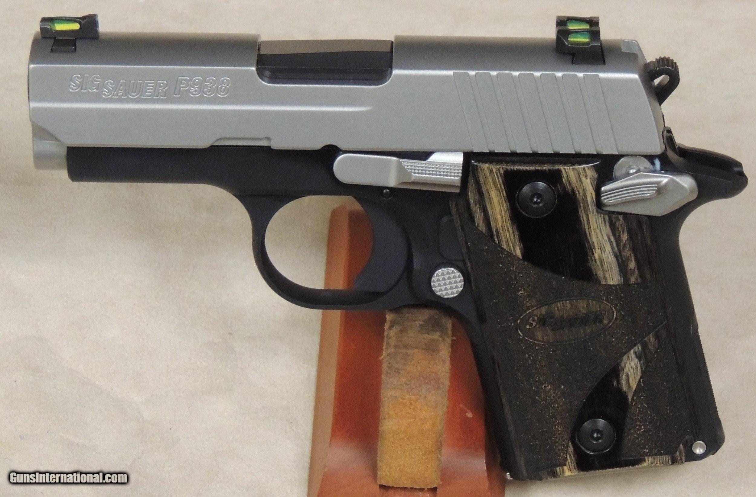Sig Sauer P938 Blackwood Compact 9mm Caliber Micro 1911