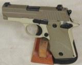 Sig Sauer P238 Desert Tan 2-Tone .380 ACP Caliber Micro 1911 Pistol S/N 27A161425XX