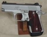 Kimber Micro9 Stainless Rosewood Laser Grip .9mm Caliber 1911 Pistol S/N PB0150463XX