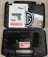 Sig Sauer P365 9mm Caliber Pistol NIB S/N 66A210878XX - 5 of 6