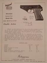 Mauser Modell HSc .380 Caliber (9mm Kurz) Pistol S/N 01.21193 - 5 of 5