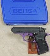 BERSA Thunder 380 ACP Caliber Pruple Frame Pistol NIB S/N J32111XX - 5 of 5