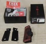 Kimber Logo Crimson Trace Laser Grips *Rosewood For Compact 1911 Pistol NIB - 1 of 4