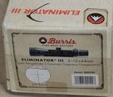 Burris 3-12x44mm Eliminator III Laser Rangefinder Riflescope *As New #200120 - 6 of 7