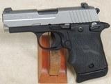 Sig Sauer P938 Two-Tone 9mm Caliber Pistol w/ Laser ANIB S/N 52A054839XX - 2 of 6