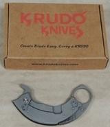 Krudo Knives SNAG folder Plain-Serrated Edge 2.0 Knife *Defensive Weapon - 1 of 5