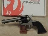 Ruger Wrangler .22 LR Caliber Silver Cerakote Revolver NIB S/N 200-91708XX