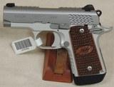 Kimber Custom Shop Micro9 Raptor 9mm Caliber Stainless Pistol NIB S/N PB0305767XX
