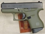 Glock Model G43 .9mm Caliber OD Green Pistol NIB S/N ADZV125XX