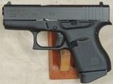 Glock Model G43 Compact .9mm Caliber Pistol NIB S/N AEXX539XX