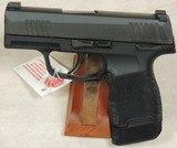 Sig Sauer P365 TacPac 9mm Caliber Pistol & Accessories NIB S/N 66B218174XX