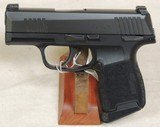Sig Sauer P365 9mm Caliber Pistol With Safety NIB S/N 66B216602XX