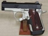 Kimber Two Tone Micro9 9mm Caliber Pistol w/ Crimson Trace Laser Grips NIB S/N PB0371991XX
