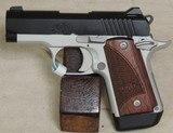 Kimber Two Tone Micro9 9mm Caliber Pistol w/ Rosewood Grips NIB S/N PB0377602XX