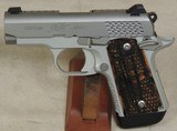 Kimber Custom Shop Micro9 Raptor 9mm Caliber Stainless Pistol S/N PB0037489XX