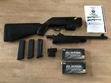 """Ruger PC Carbine 9mm 16"""" Fluted & Threaded BBL /w/ Glock & Ruger Mags NIB + 100 Rounds 124 gr FMJ Ammo"""