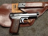 Mauser Model 1910/14 7.65 mm .32 Auto Pistol and Holster